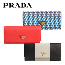 ★PRADA★[MAKE $495! ONLY for 1DAY!] ★Grab the Qoo10 Cart Coupon★ FREE SHIPPING ★★100% Authentic★PRADA/ WOMEN/WALLET/ wallet for women