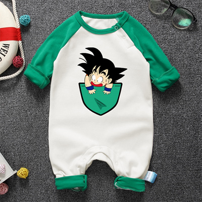 578eff918c9e1 outlet Spring 100%Cotton Baby Boys Girls Clothes Dragon Ball Babies Rompers  Infant SON GOKU Long Sle