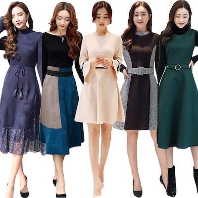高品質 ワンピース 韓国ファッション ♥限定発売♥上品&ガーリー♡レトロ レース ♪ ワンピース/シャーリングディテール ワンピース
