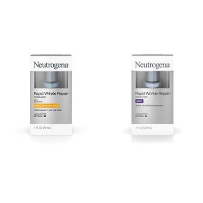 Neutrogena Rapid Wrinkle Repair Moisturizer with Wrinkle Repair Night Moisturizer