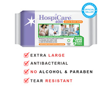 HospiCare 40R CTN DEAL/ 18 PACKETS/ Adult Body Wipes/ Antibacterial/ Medical use/ Ma