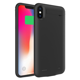 For iPhone Xs Max Battery Charger Case 5200mAh Rechargeable Power Bank External Backup Charger Case