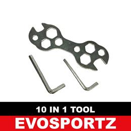 19-22mm Dual-Use Dog Bone Shape Hex Multi Ratchet Wrench Swivel Head Spanner