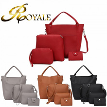 ROYALE 4-In-1 Women High Quality PU Leather Shoulder Crossbody Bags For Women Clutch Card Holder Pur
