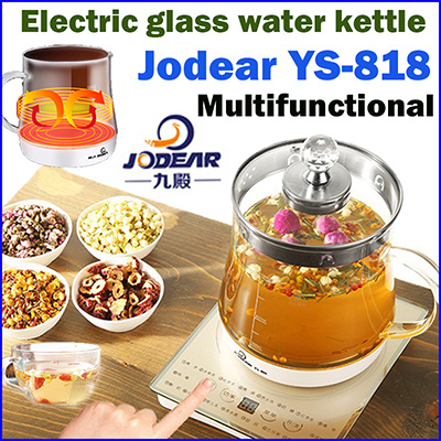 [Kitchen Art] Jodear YS-818 electric glass water kettle 1.5L/ multifunctional health kettle / household electric kettle electric teapot tea set Deals for only RM185.5 instead of RM185.5