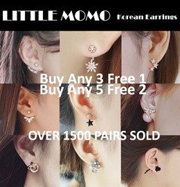 LITTLE MOMO  KOREAN EARRINGS  BUY 3 FREE 1 OVER 200 DESIGNS