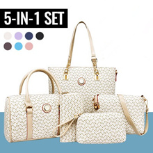 5 in 1 set /hand bag/shoulder bag//travel bag/Korean fashion/ladies wallet/Korean Sling Bag
