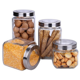 Sealed jar glass storage tank kitchen household food moisture-proof dry fruit snack bottle candy