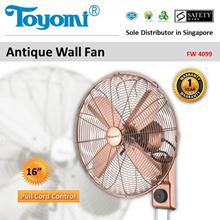 TOYOMI Antique Wall Fan [Model: FW 4099] - Official TOYOMI Warranty Set. 1 Year Warranty.