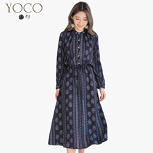 YOCO - Buttoned Down Printed Dress-172656-Winter