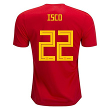 Beyoog Spain 2018 National ISCO 22 World Cup Home Jersey Red Size L