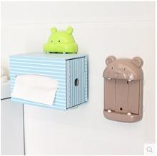 Cute cartoon towel rack strong suction pumping paper tissue box holder fashion home