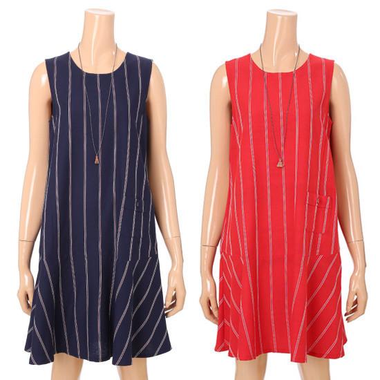 ジャック・アンド・質女性・ストライプ、袖なしの古ワンピース32172JO513YP 面ワンピース/ 韓国ファッション