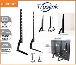 Universal LCD Flat Screen TV Table Top Stand Base Mount Super Stable Feet 14-42 And 32-72 Compact Ta