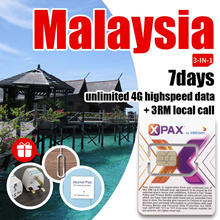 *Malaysia travel simcard*7days unlimited highspeed data 4GLTE the lowest price data plan