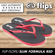 ★NEW★[Flips™]★FORMULA RED★100% Rubber Slippers/Comfort Flip-flops/Non-skid/Flexible/Breathable