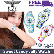 ♥GENUINE♥[BOY LONDON] 10 Type Premium Casual Watch / Sweet Candy Jelly Watch Collection / Women Watch / Flower Watch / Korean Best Selling Fashion Watch / Free Shipping