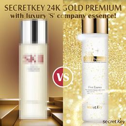 【Secret Key HQ Direct Operation】24k Gold Premium First Essence 150ml/Cream 50g/Serum 30ml/Eye Mask