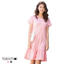TOKICHOI - Striped Frill Hem Dress-171913