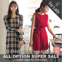 16th Dec Update ♥Korean Style♥ Linen / Casual Dress / LOOSE Fit  / Basic Dress / Plus size / Long