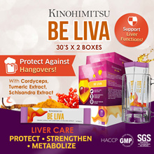 [2MTH SUPPLY] Be Liva 30sx2 *No Hangover* Protect Liver* CordycepsTumeric *Alcohol Lover*