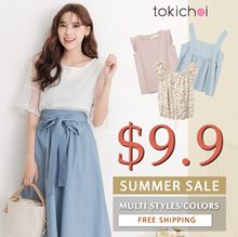 TOKICHOI - Summer Look Dress/Tops Multi Colors Multi Styles - Free Shipping