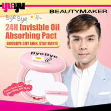BEAUTYMAKER Bye Bye Oil Pact✮360 Degrees Soft Focus Powder✮BEYOND 24H LONG LASTING✮Absorbs Oil Only