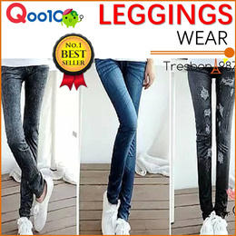 [BEST SELLER] Denim Leggings Pants Jeans Fashion Skinny Slim Tights for Woman Girl