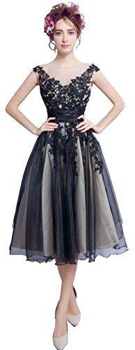 74f98ab793a COUPON · ▷ 1 Shop Coupon◁ Cohaco Women s Off-Shoulder Black Lace Appliques  Party Dress