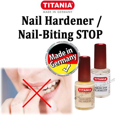 Qoo10 - [TITANIA] Nail Biting Stop / Nail Hardener 10ml - Nail ...