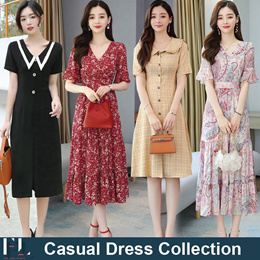 24th Jan Update new Style ♥Korean Style♥ Linen Dress / Casual / LOOSE Fit  / Basic Dress / Plus Size
