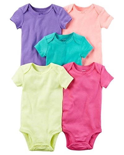 939ecaf21 Qoo10 - Carters Baby Boys 5 Pack Bodysuits (Baby) - Asst-Boys 2 ...
