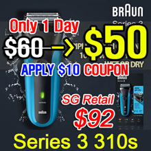 [BRAUN] Rechargeable Electric Shaver / Series 3 310s / Triple Action Cutting System / waterproof