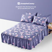 [Local Seller] 3 IN 1  bedsheet 12 Colors to choose bedsheet/ Fitted sheet/Pillow case/Bolster cover