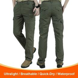 Mens Summer Lightweight Quick-Drying Thin Cargo Pants