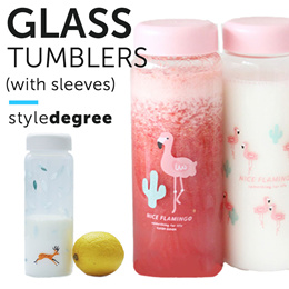 ★Classy Glass Bottles and Tumblers!★ Water Bottle Thermal Flask Flask Hot Drinks Corporate Gifts Bag