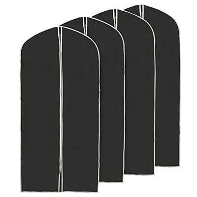 34901a81584a EZOWare (Set of 4 60 inch Garment Bag, Black Foldable Breathable Garment  Suit Dress Jacket Coat Shir