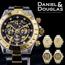 다니엘 더글라스 DANIELDOUGLAS 다니엘 더글라스 DD8802-GP 남성 시계 시계 자동식 오토매틱 기계식 해골 골드
