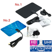 Flat Design Digital Indoor Antenna TV HDTV 1080P DTV Box Ready High Gain HD VHF UHF