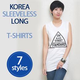 [HowRU] ★ Korea Long Sleeveless T-Shirt ★ Korean Style / Woman Fashion tshirt / Made in Korea / High Quality Shirt / Summer Girls Top / Chirstmas