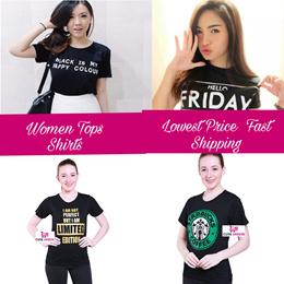 Tumblr Tee/Black White Short Sleeve Women Shirt/Round neck Slim Fit Ladies T-Shirt