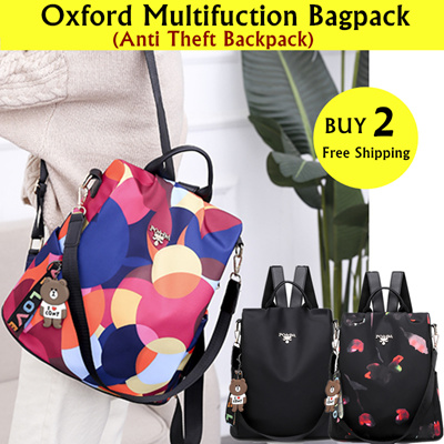 7a124dbf4d Fashion Multifunction Backpack Women Oxford Bagpack Female Anti Theft Backpack  School Bag: 36 sold: Rating: 5: Free~: S$17.90 S$12.90