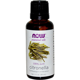 Now 100% Pure Aromatherapy Essential Oil Citronella 1 fl oz (30 ml)