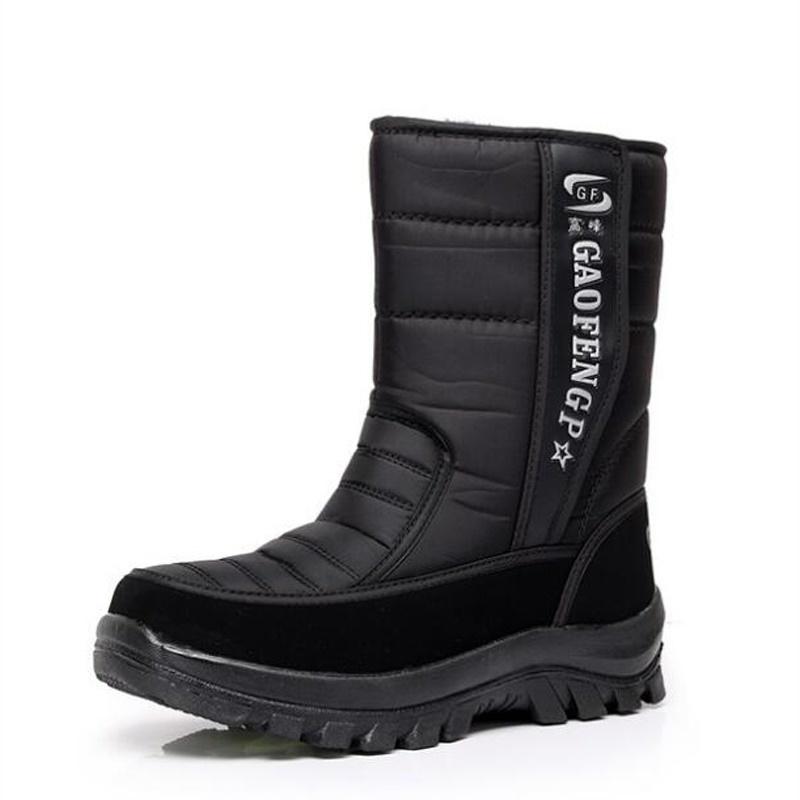 Men snow boots camouflage platform men