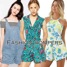 European Design Romper / Denim Jeans Jumpsuit / Quality Plus Size / Korean Design Fashion