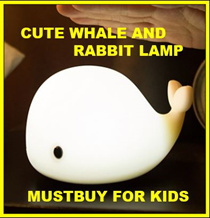 ★MUST ITEM FOR MY KIDS★Whale lamp mood lamp night light USB charging