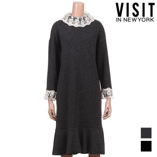 ・ビジット・インニューヨークレースニット・ワンピースVTKOP01 面ワンピース/ 韓国ファッション