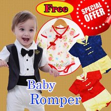DSN1:Update 13/01/18 CNY romper/Christmas/baby/Rompers/Jumpers/Baby Rompers/Muslin romper/blanket