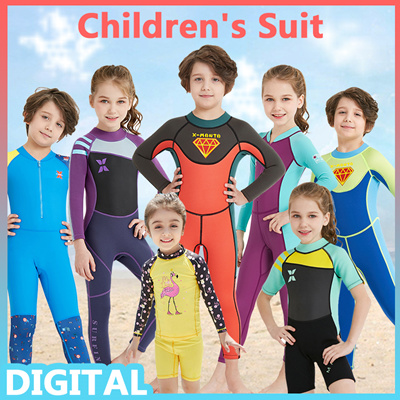 30003cf5e1e4f KIDS Thick Swimsuit Short Sleeve Long Sleeve Swimming Costume Wear Suit  Diving☆Swim Clothes Boy