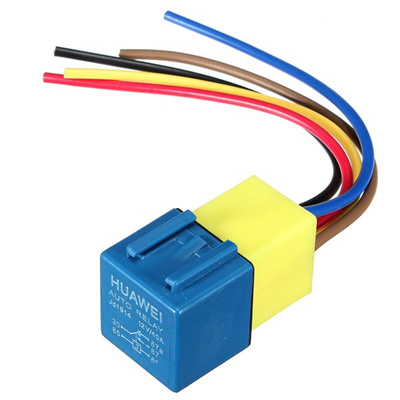 12V 30/40Amp Car Auto Automotive 5 Wire Relay With Wiring Harness And on